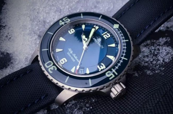 Replicas Blancpain Fifty Fathoms Titanio 45mm